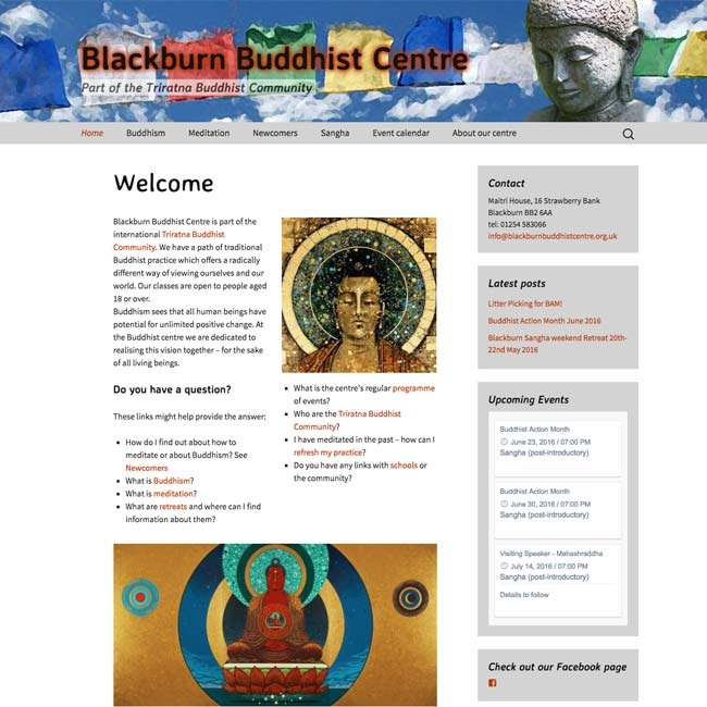 Screenshot Buddhist centre